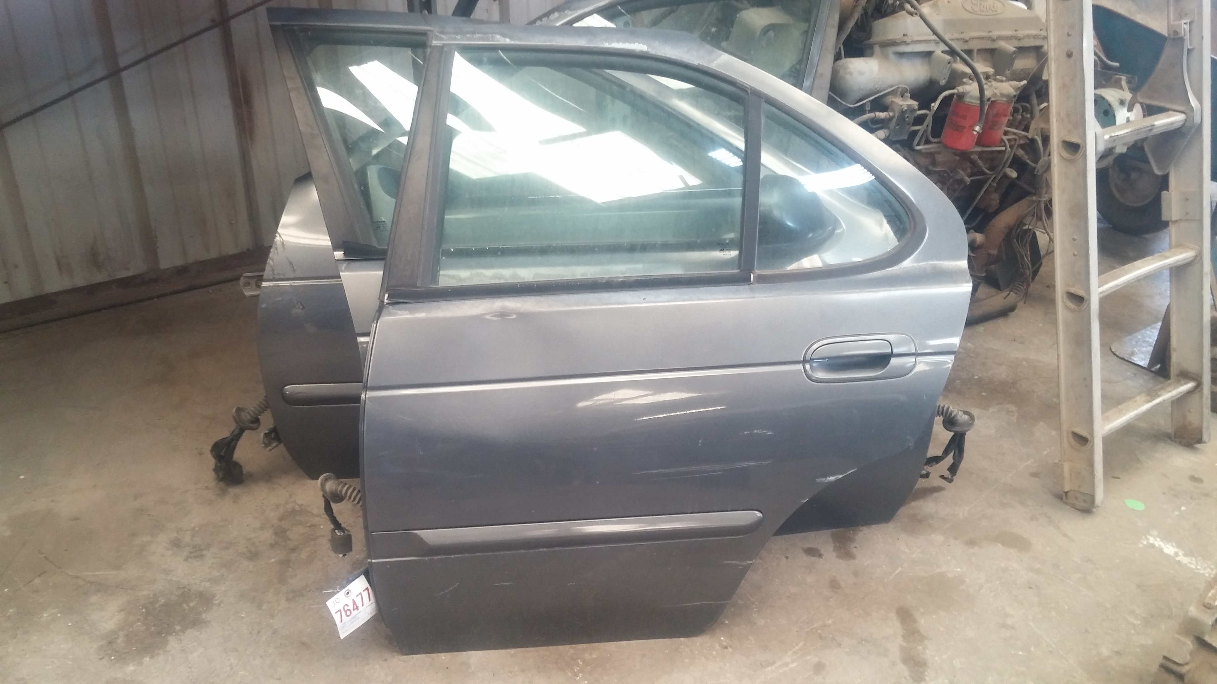Above All Salvage 2000 Nissan Sentra Interior Door Panel Rear Right Passenger Grey Above All Salvage